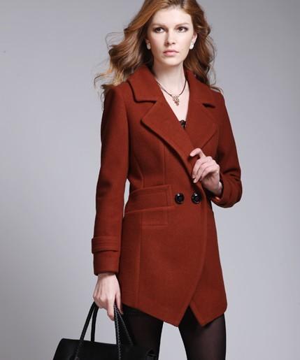 名人瑞裳 2012新款中长款妮子大衣外套